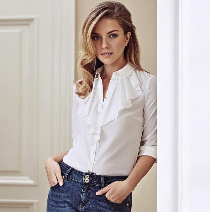Біла блуза з воланами – найромантичніший тренд сезону весна-літо 2021 5