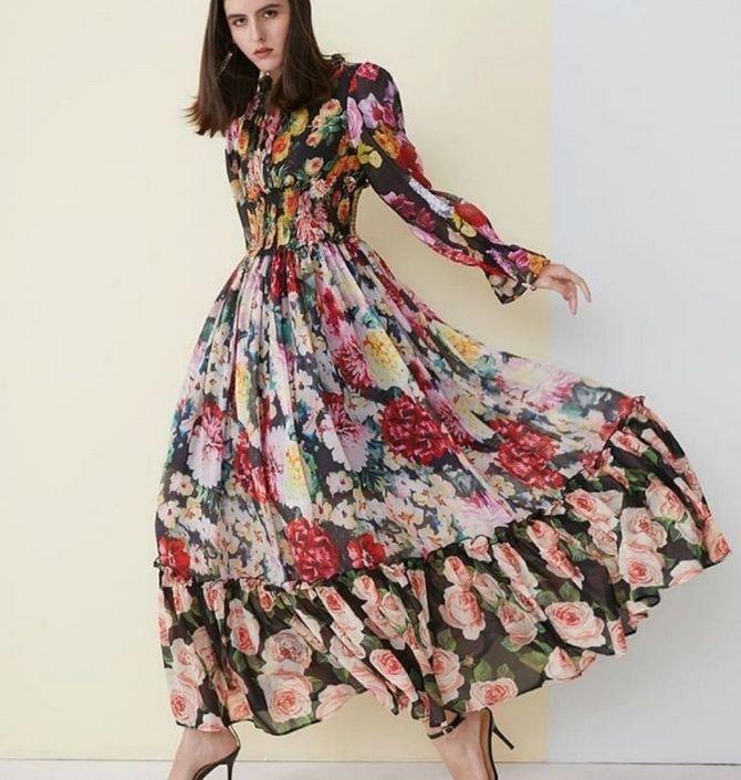Модні сукні з квітковим принтом на весну 2021 18