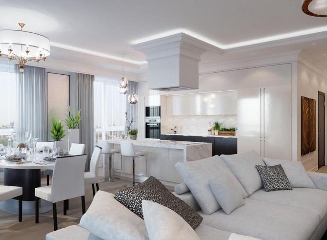 Подбираем дизайн интерьера для большой квартиры: на что обратить внимание? 1