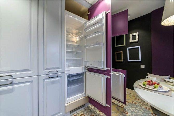 Обновляем кухню: как подобрать встраиваемый холодильник к интерьеру? 1