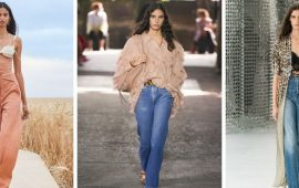 Як носити джинси з високою талією