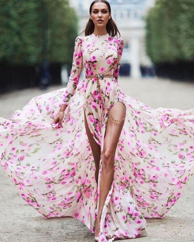 Модні сукні з квітковим принтом на весну 2021 21