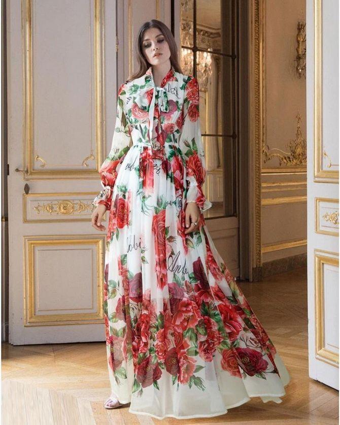 Модні сукні з квітковим принтом на весну 2021 11
