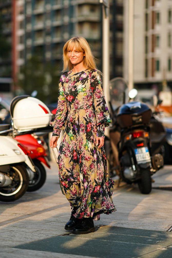 Модні сукні з квітковим принтом на весну 2021 20