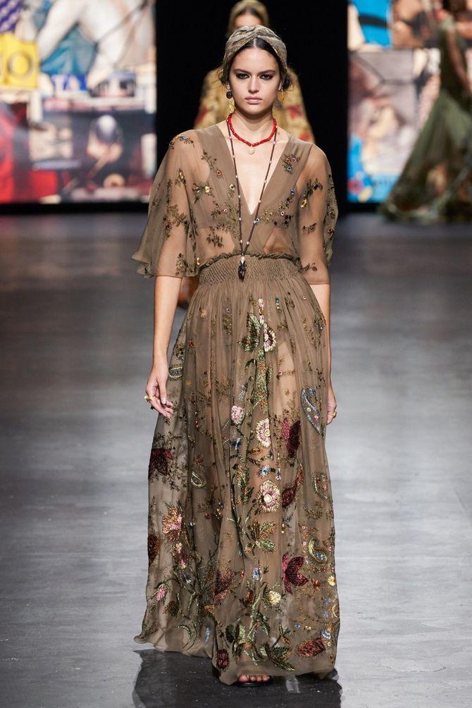 Модні сукні з квітковим принтом на весну 2021 3