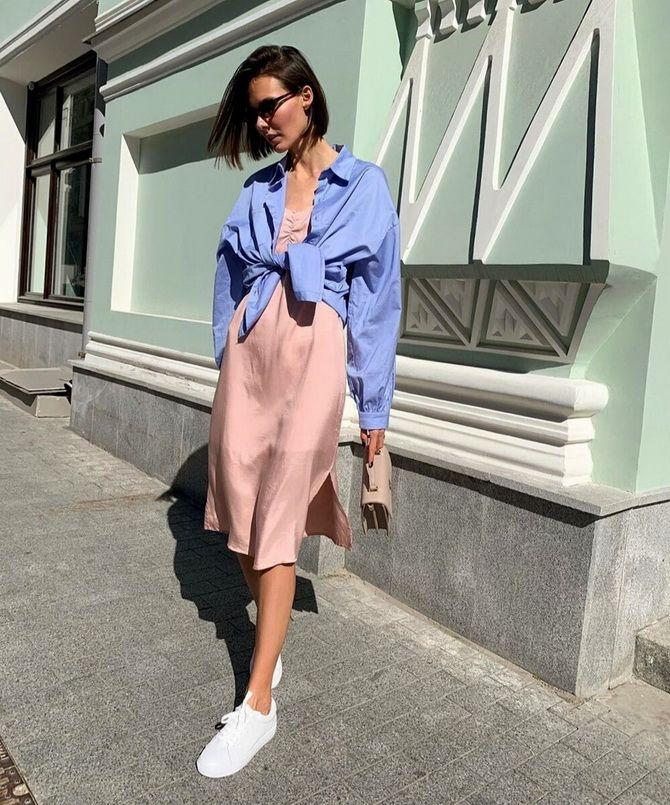 5 способов, как носить платье-комбинацию на любой случай 1