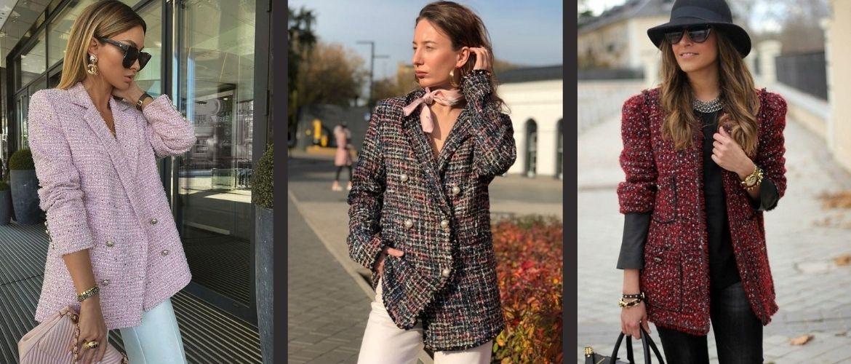 Твидовый жакет – отличный выбор для модниц