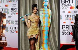 Атлас, сітка і багато блиску: кращі вбрання червоної доріжки Brit Awards 2021