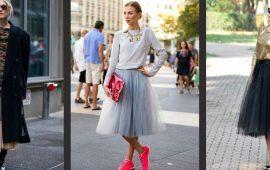 Как правильно носить модные воздушные юбки после 45 лет
