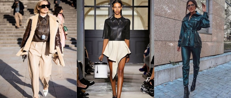 Кожаная рубашка – модная и стильная вещь 2021 года