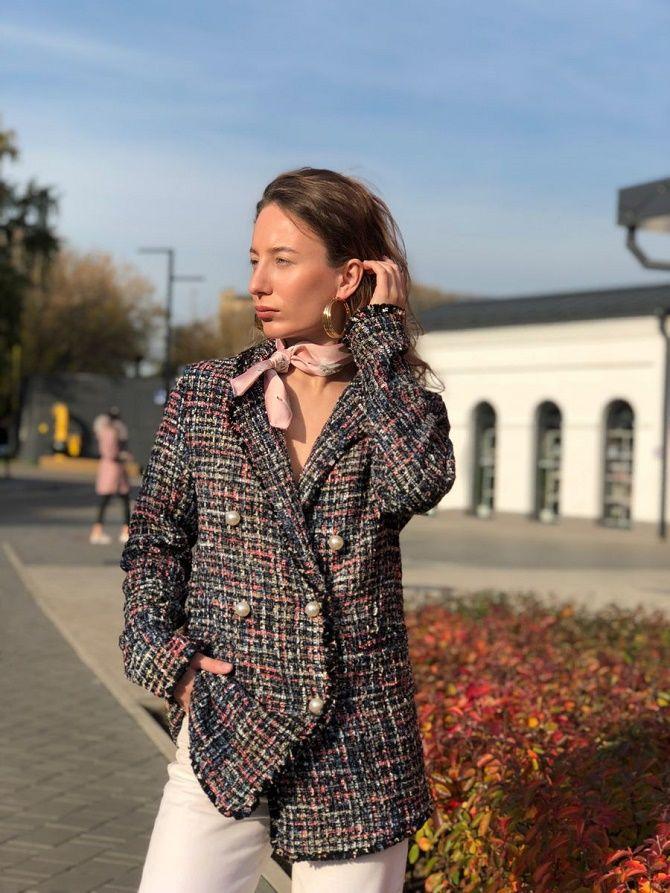 Твидовый жакет – отличный выбор для модниц 2