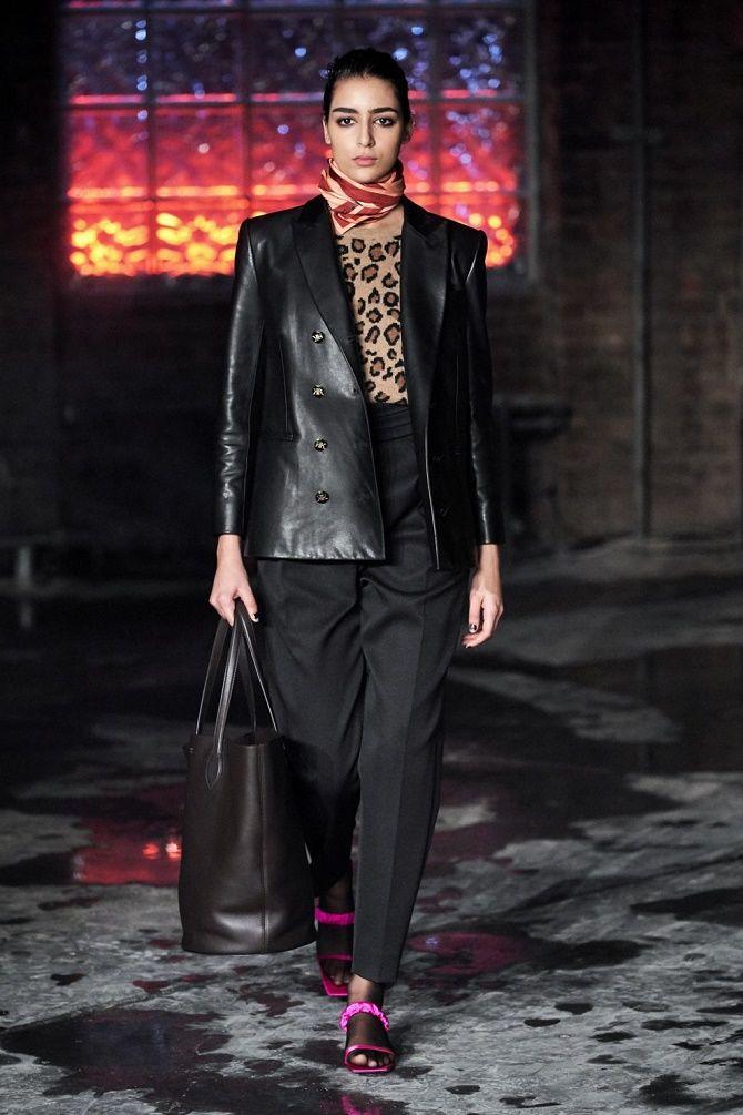 Как носить кожаный жакет – самую модную вещь сезона 2021 2