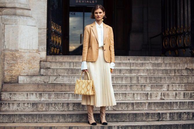 Как носить кожаный жакет – самую модную вещь сезона 2021 12
