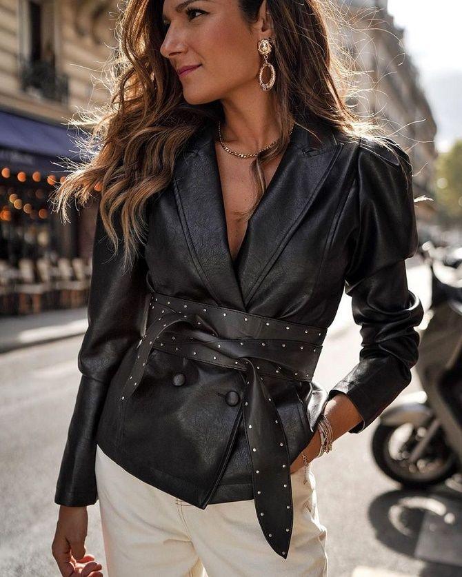 Как носить кожаный жакет – самую модную вещь сезона 2021 3