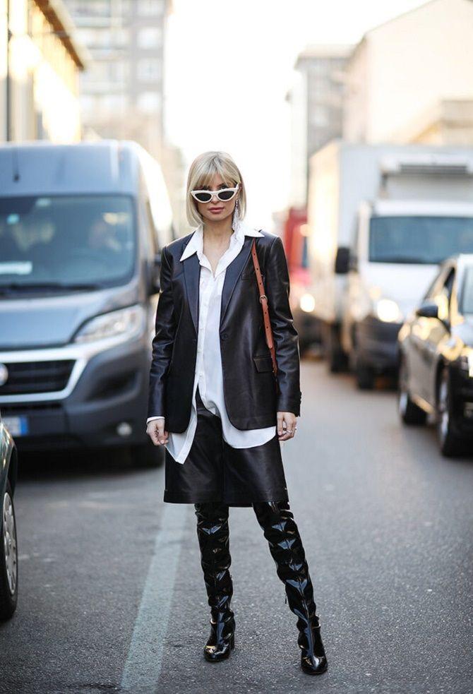 Как носить кожаный жакет – самую модную вещь сезона 2021 6