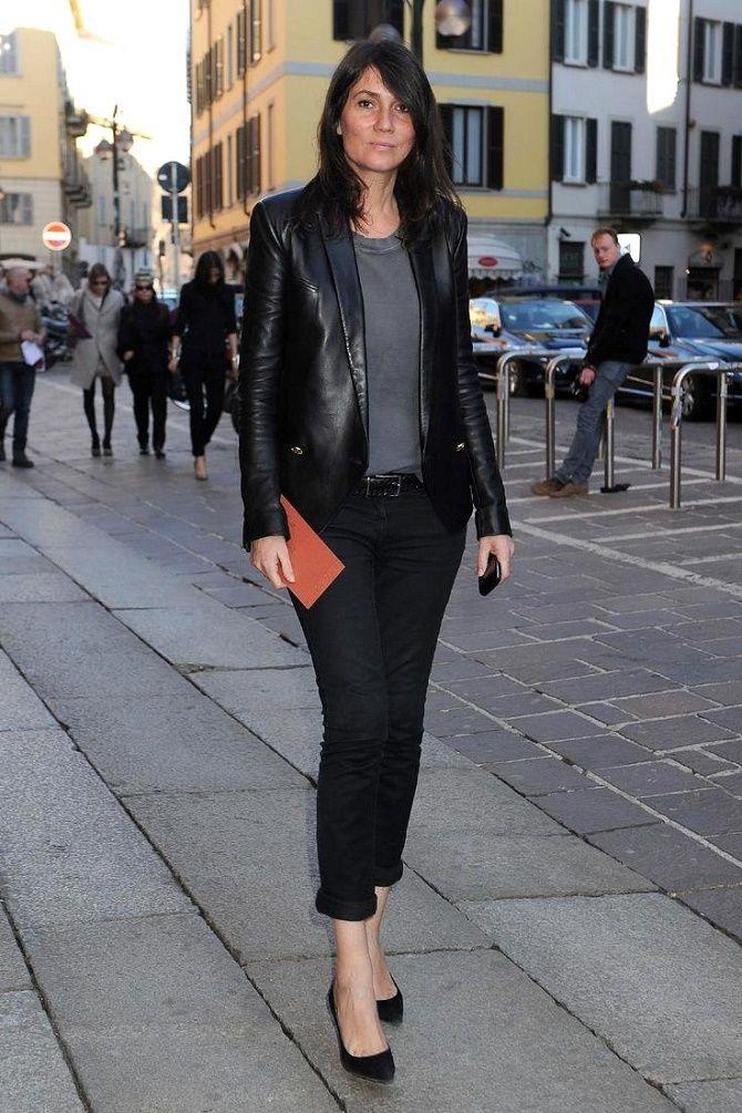 Как носить кожаный жакет – самую модную вещь сезона 2021 10