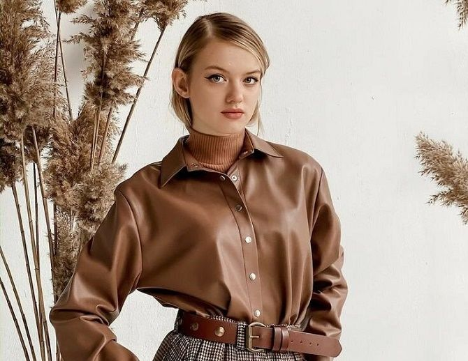 Шкіряна сорочка – модна і стильна річ 2021 року 1