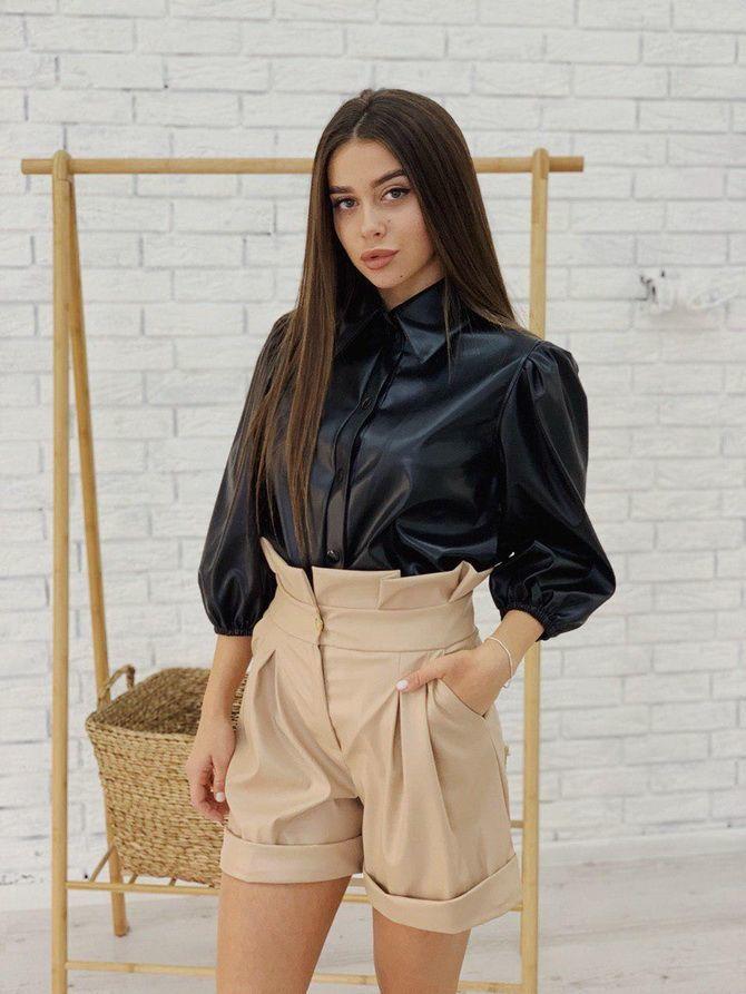 Кожаная рубашка – модная и стильная вещь 2021 года 11