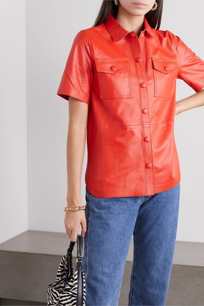 Шкіряна сорочка – модна і стильна річ 2021 року 6