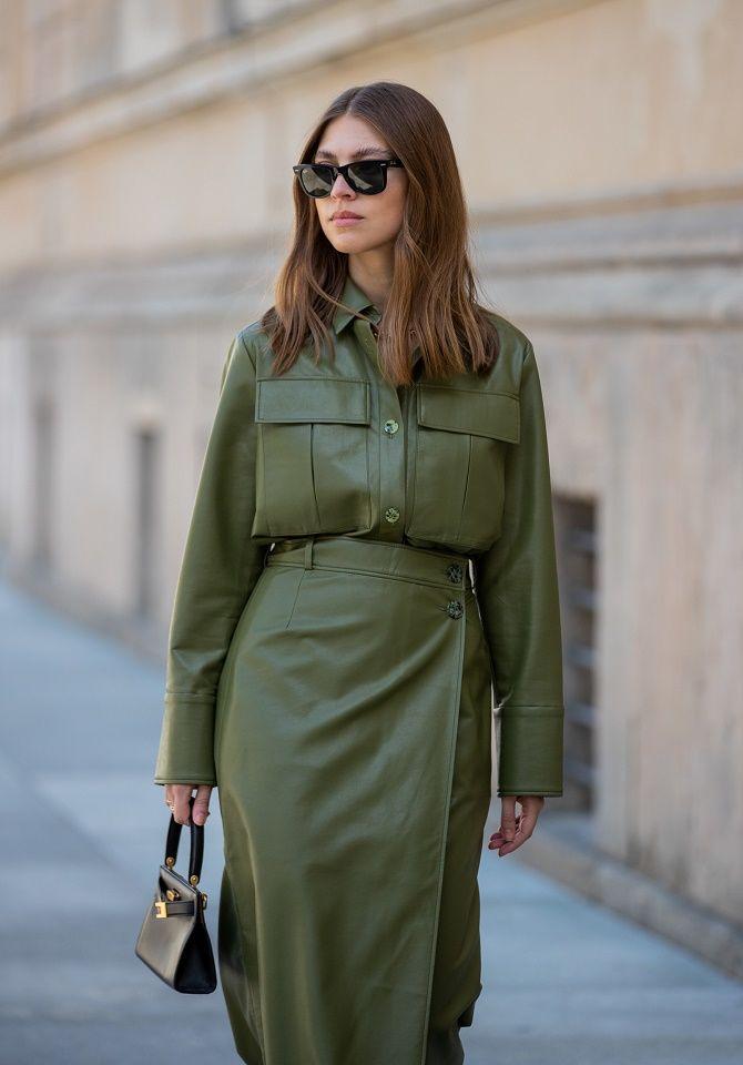 Кожаная рубашка – модная и стильная вещь 2021 года 8