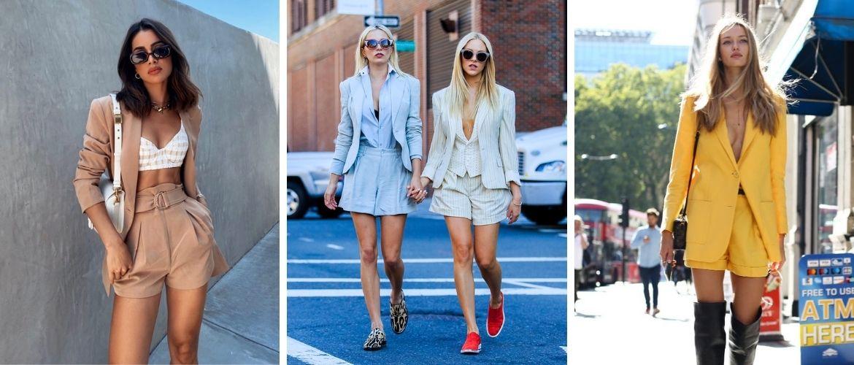 Женский костюм пиджак с шортами: основной летний тренд