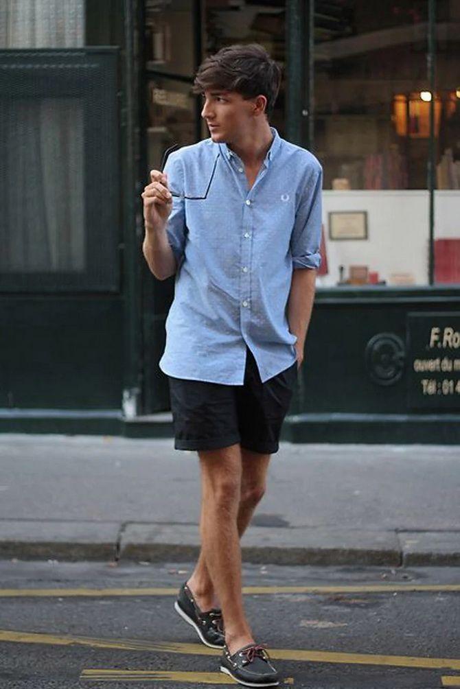 З чим носити чоловічі шорти – поради для стильного хлопця 10