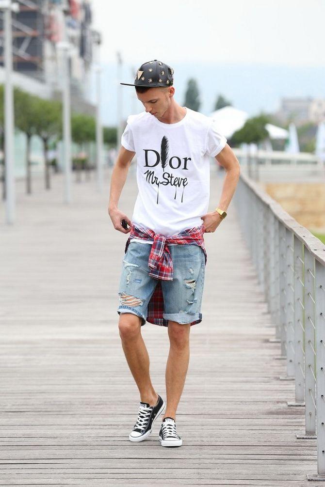 З чим носити чоловічі шорти – поради для стильного хлопця 16