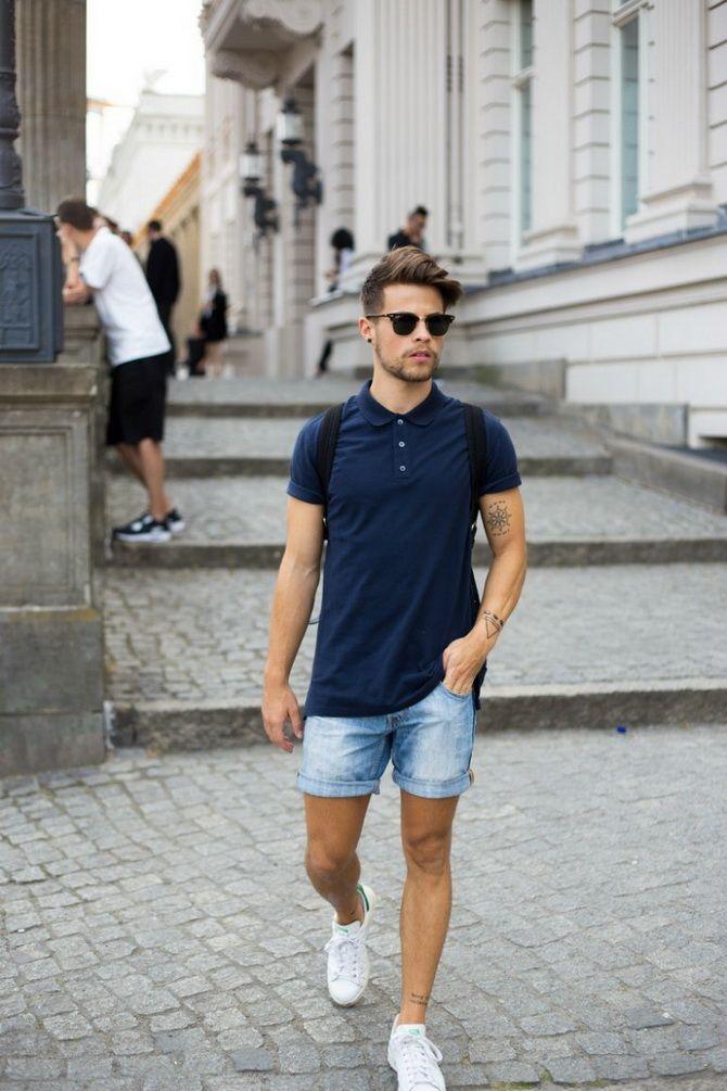 З чим носити чоловічі шорти – поради для стильного хлопця 15