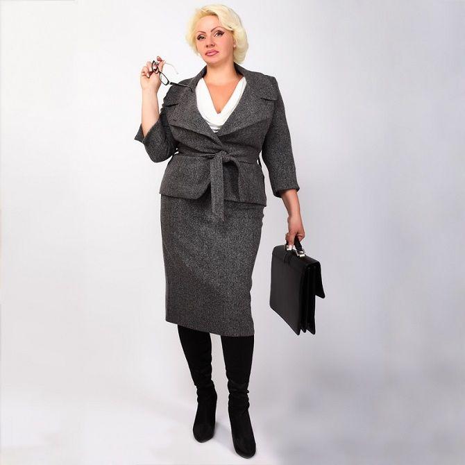 Офисный гардероб для девушек plus size: формируем деловой стиль 12