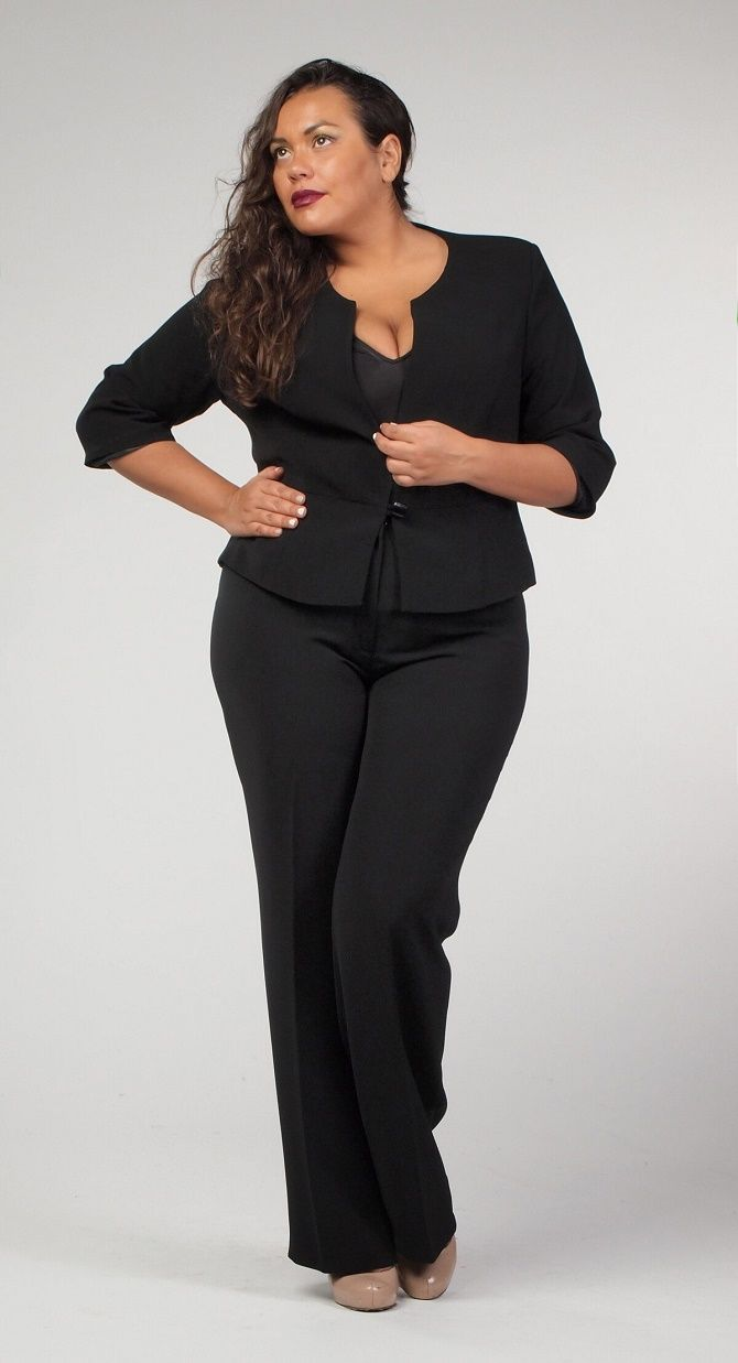 Офисный гардероб для девушек plus size: формируем деловой стиль 7