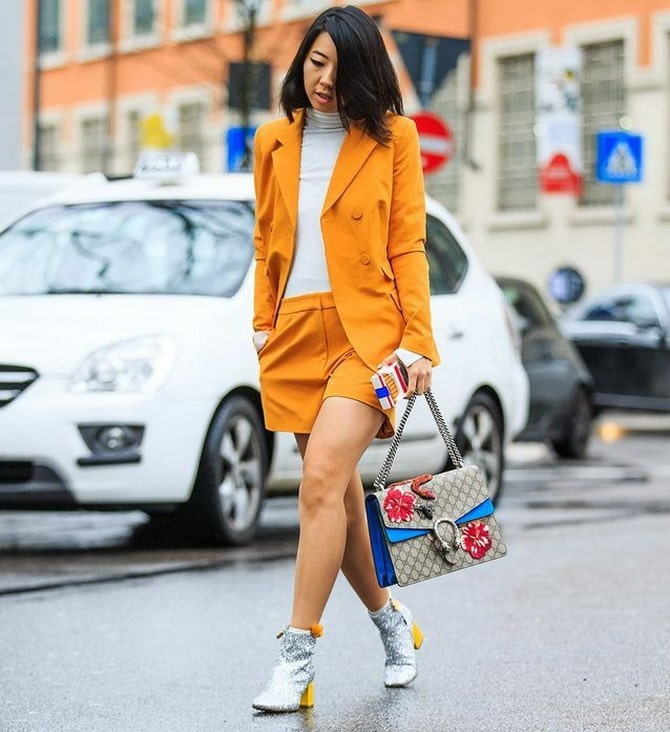 Женский костюм пиджак с шортами: основной летний тренд 3