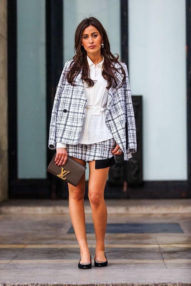 Женский костюм пиджак с шортами: основной летний тренд 5