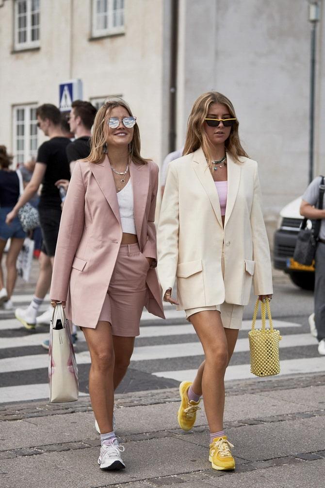 Женский костюм пиджак с шортами: основной летний тренд 9