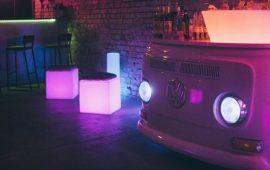 Светящаяся мебель: модные и стильные решения для дома и улицы