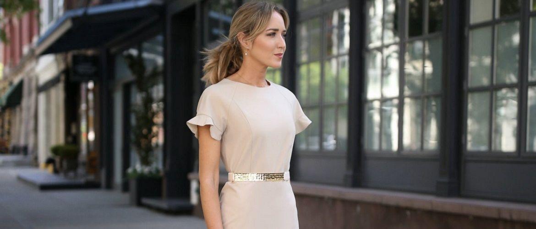 Нежнее нежного: самые модные бежевые платья 2021-2022