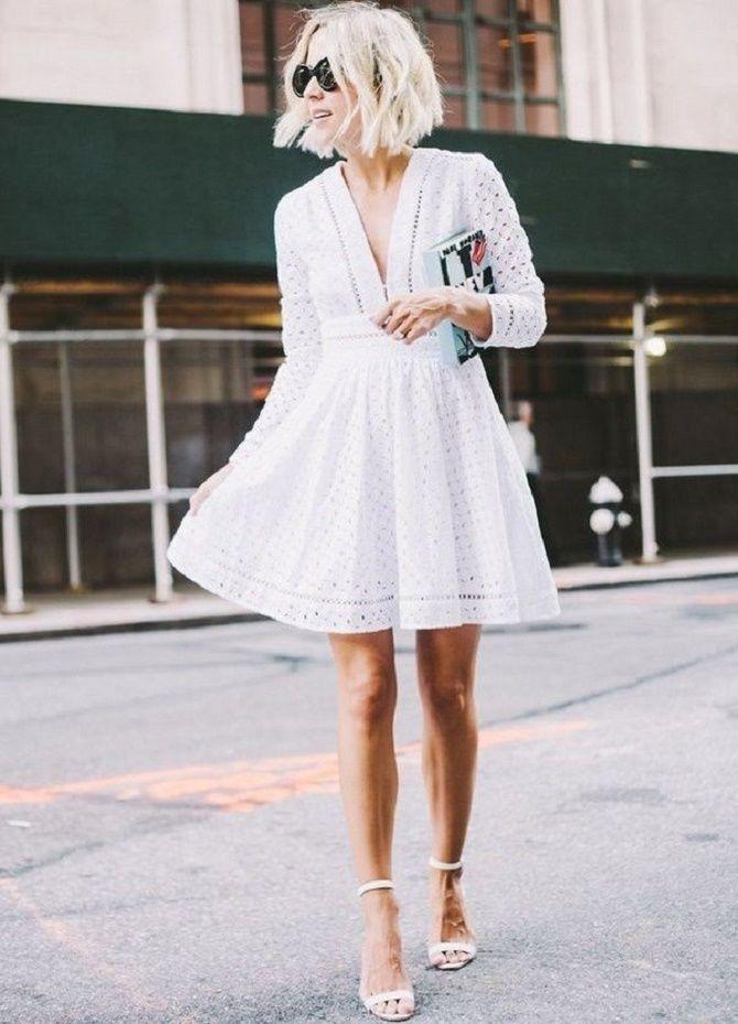 Самые красивые белые платья на лето 2021: идеи образов 3