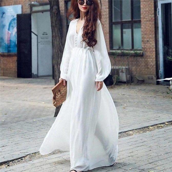 Самые красивые белые платья на лето 2021: идеи образов 7