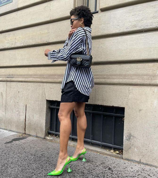 С чем носить зеленые неоновые туфли: яркие луки 11