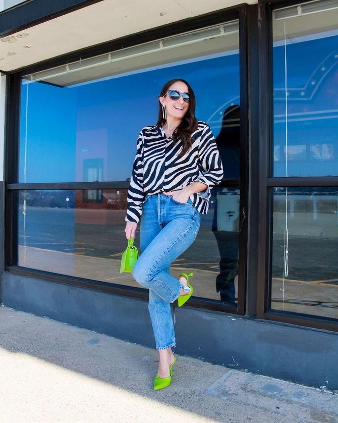 С чем носить зеленые неоновые туфли: яркие луки 9