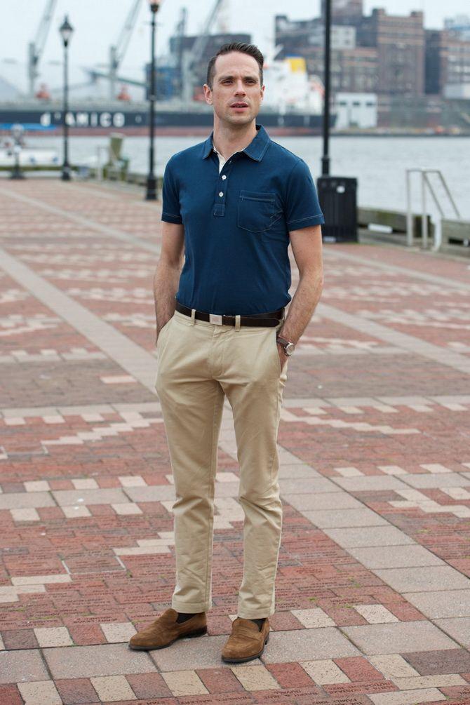 Мужская футболка поло: с чем сочетать летом 2021 7