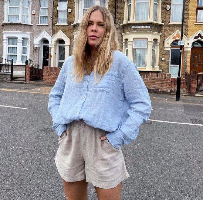 Как носить шорты с завышенной талией — модные советы 5