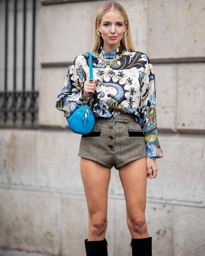Как носить шорты с завышенной талией — модные советы 27