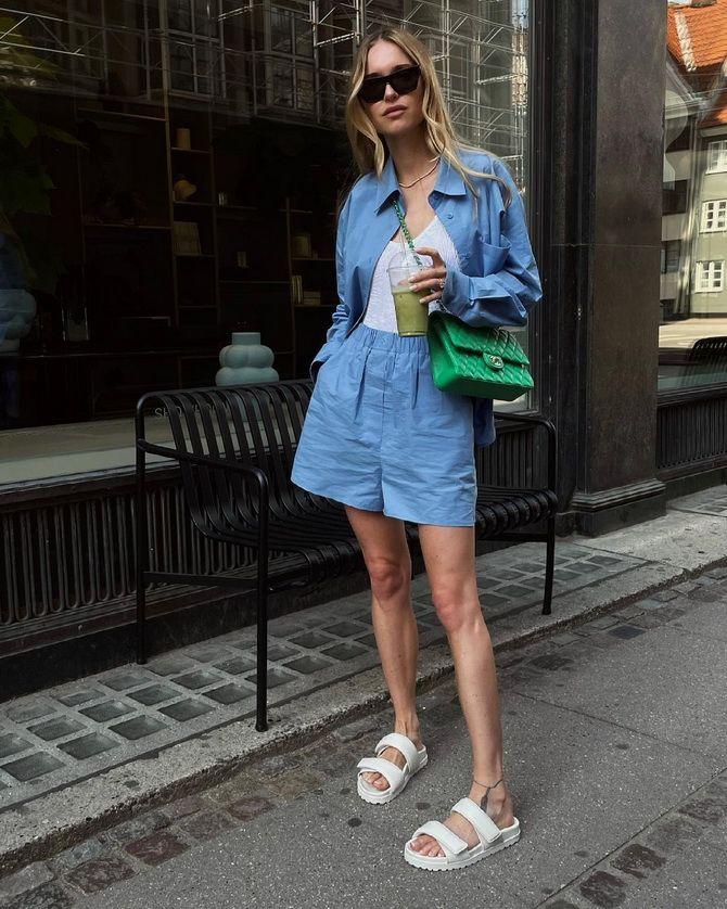 Как носить шорты с завышенной талией — модные советы 29