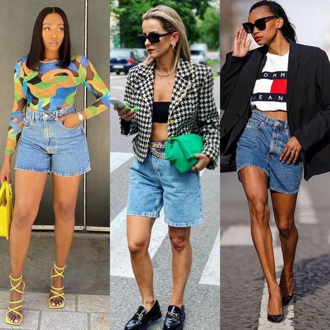 Как носить шорты с завышенной талией — модные советы 6