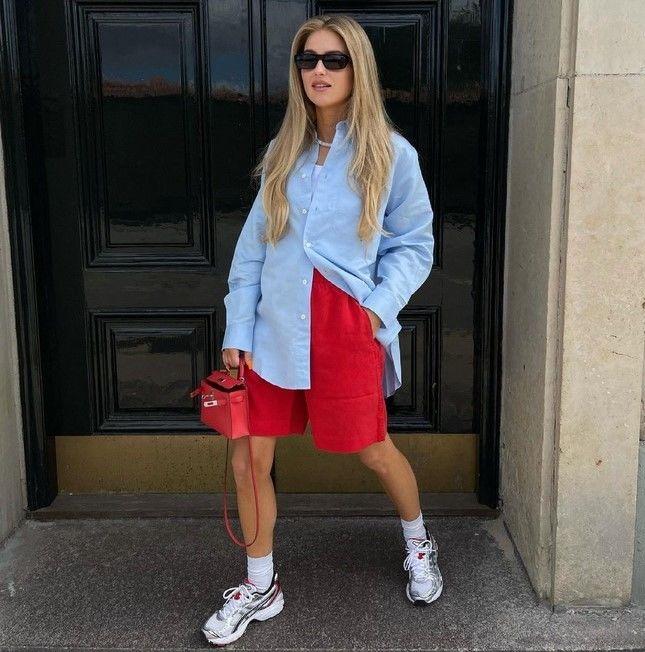 Как носить шорты с завышенной талией — модные советы 28