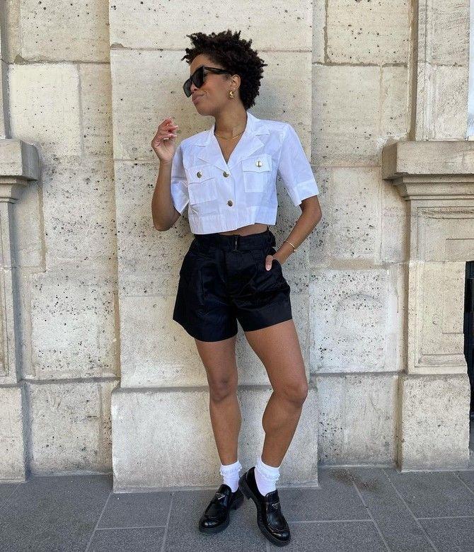 Как носить шорты с завышенной талией — модные советы 31