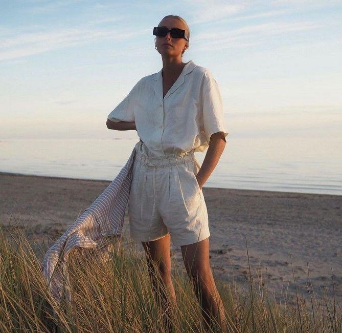 Как носить шорты с завышенной талией — модные советы 4