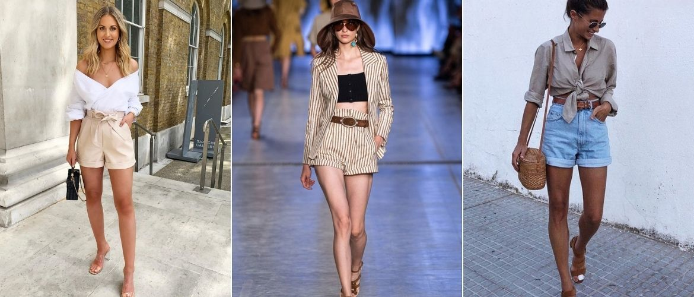 Как носить шорты с завышенной талией — модные советы