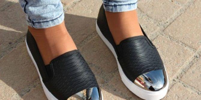 Модные слипоны – практичная альтернатива женским кедам 10