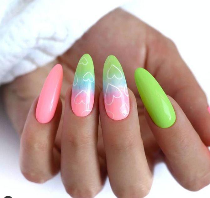 Ногти цвета лета: нейл-арт 2021 в ярких и неоновых цветах 12